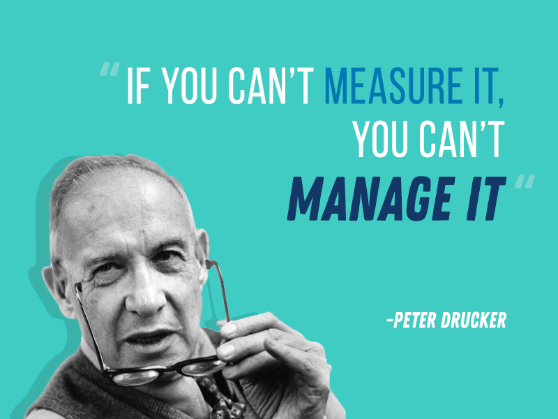 if you can't measure it you can't manage it peter drucker